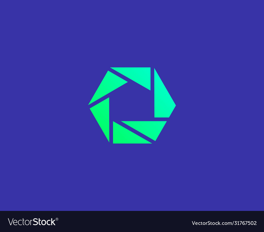 Abstract shutter logo icon design modern minimal