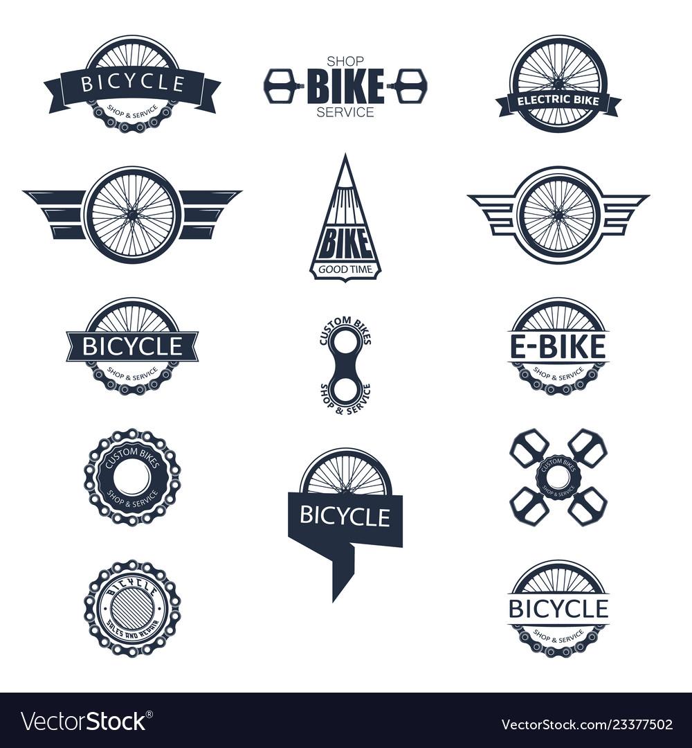 Bike badge set
