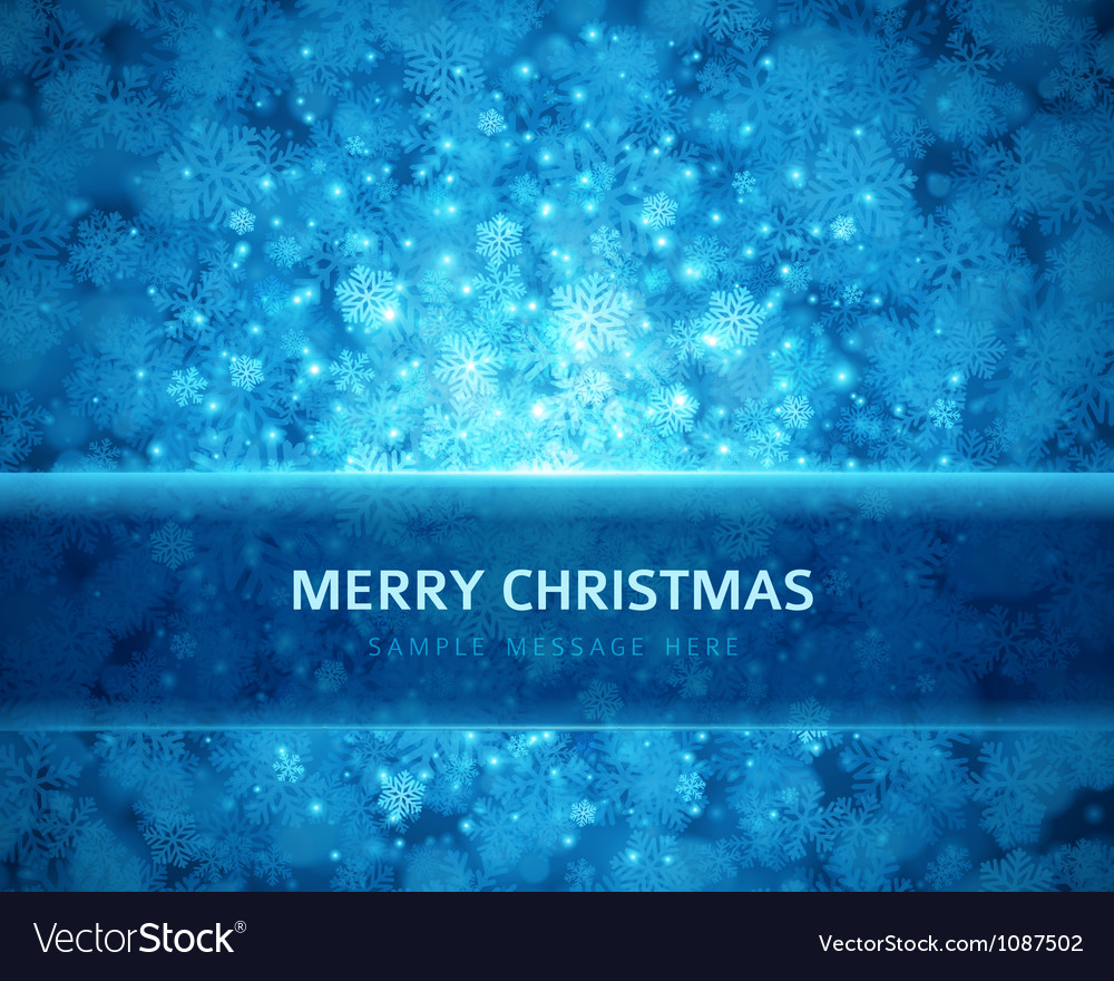 Christmas snowflakes and light background