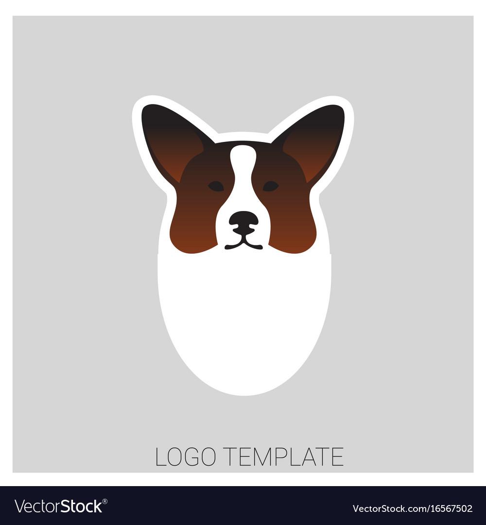 Dog head of welsh corgi breed vector image