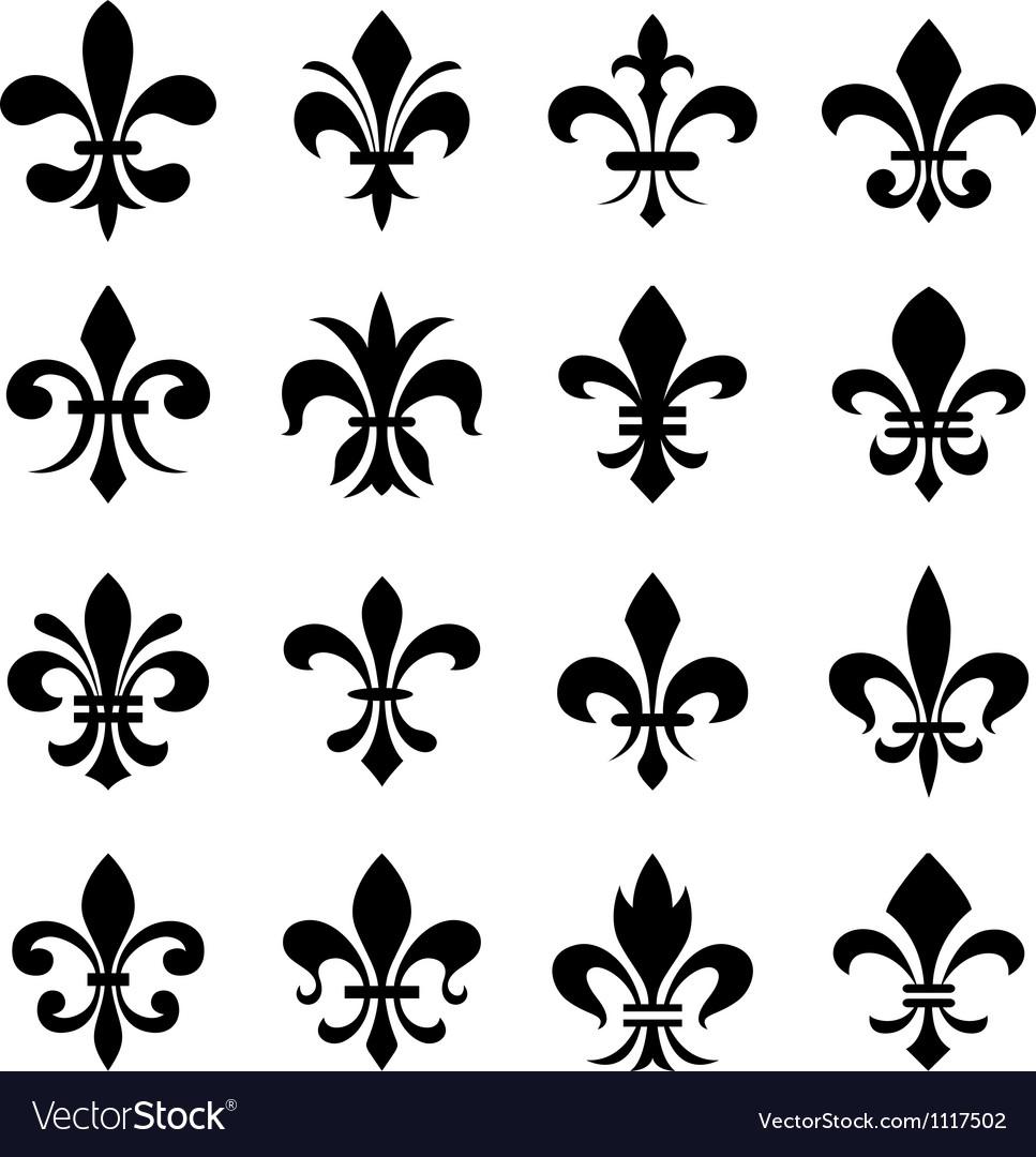 Fleur De Lis Set Royalty Free Vector Image Vectorstock