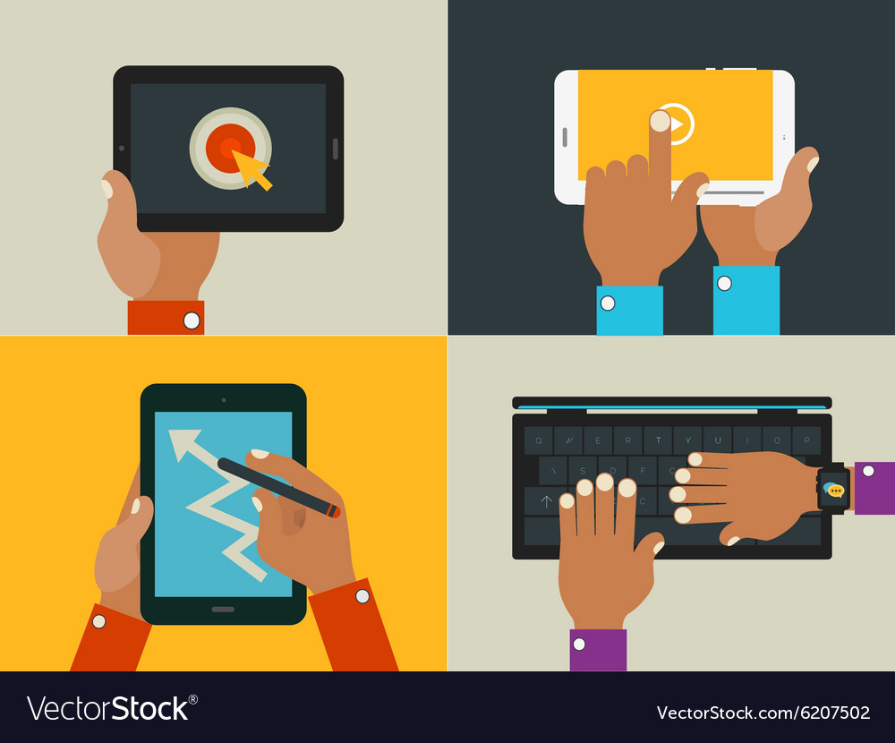 Hands and gadgets