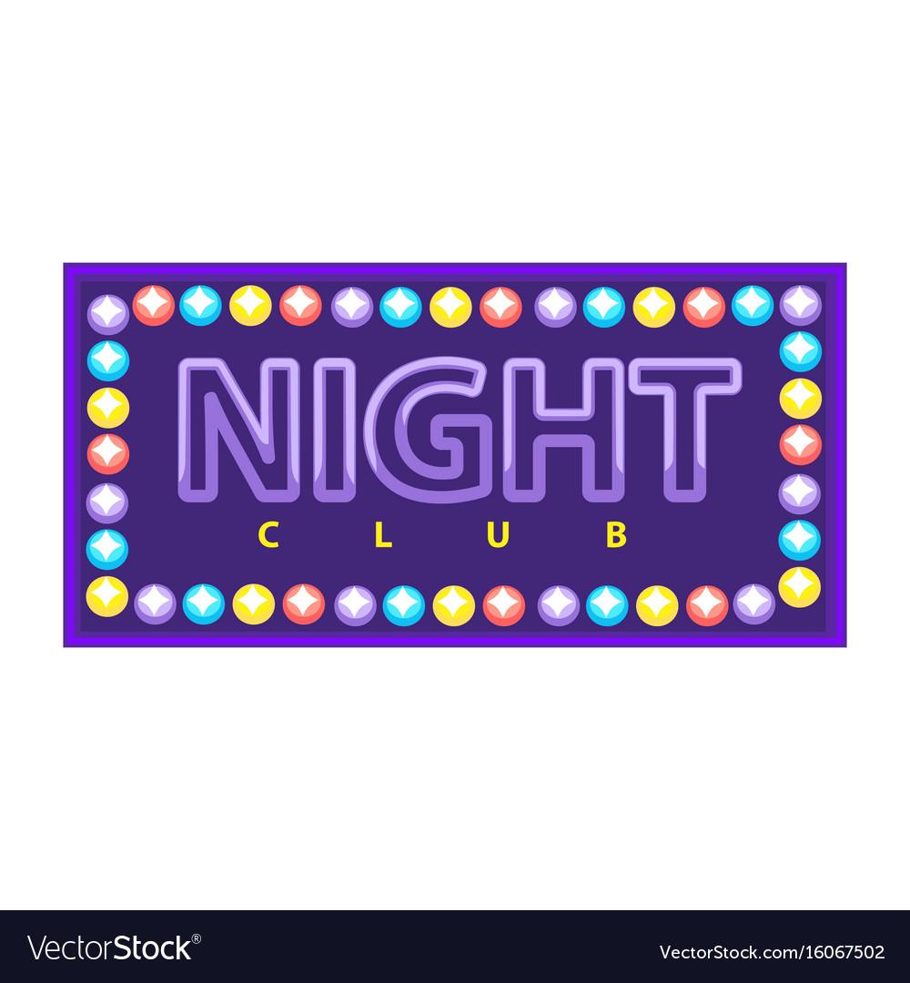Night club emblem vector image
