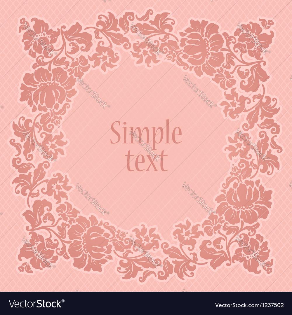 Square decorative backdrop vector image