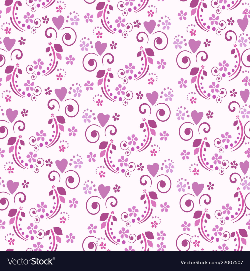 Cute seamless pattern or background with hearts