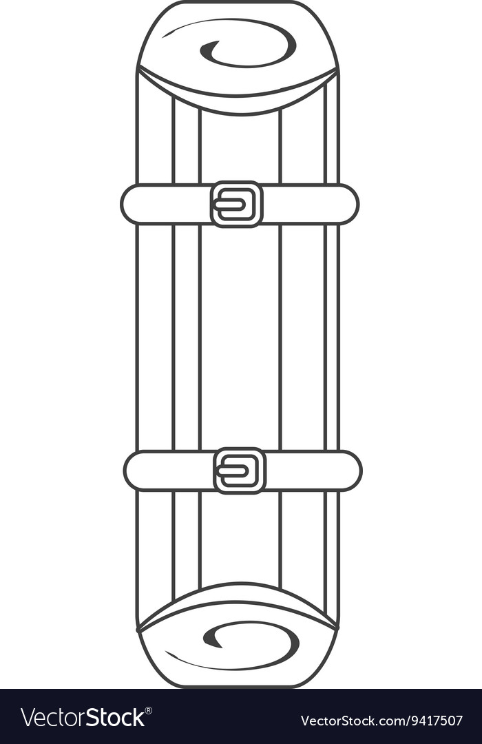First aid stretcher graphic