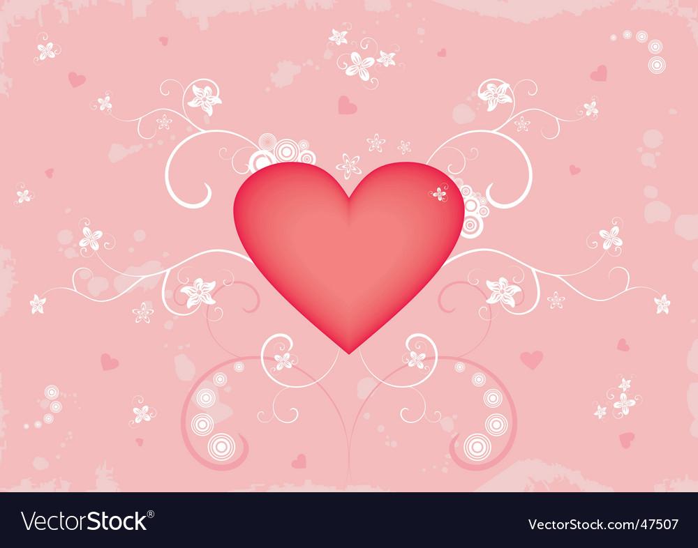 Grunge Valentine's background vector image