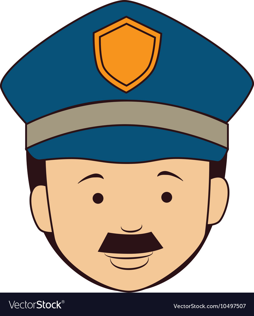 Icon man policeman security isolated