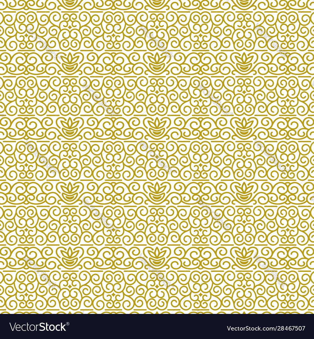 Seamless pattern in modern oriental style