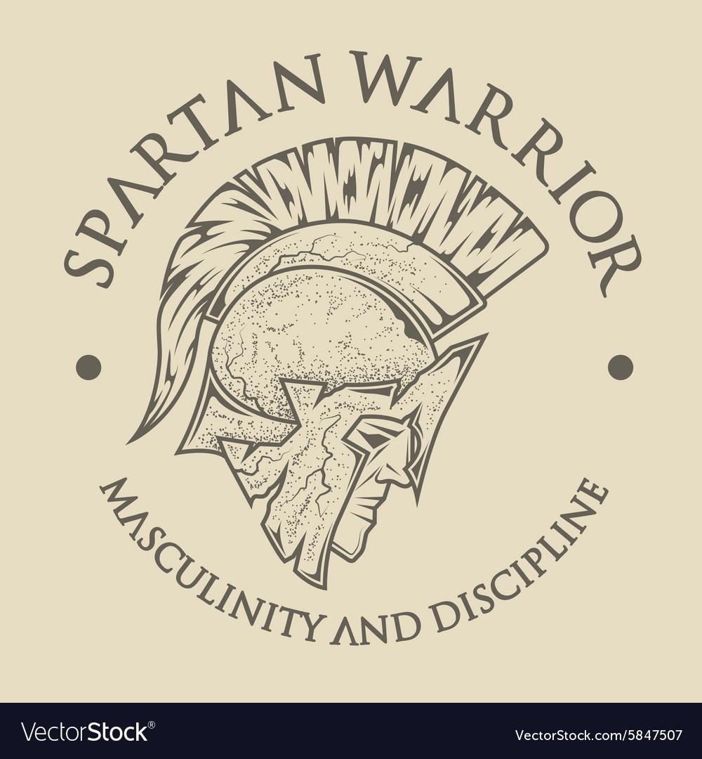Symbol Spartan Greek Warrior Royalty Free Vector Image
