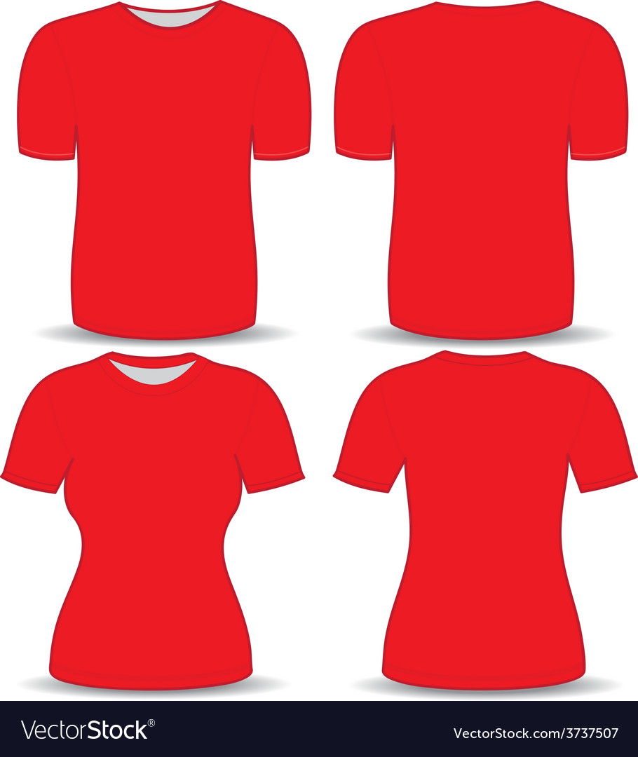 t shirt red template royalty free vector image vectorstock
