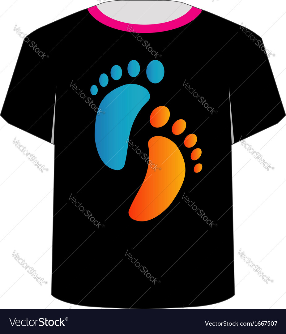 t shirt template baby foot royalty free vector image