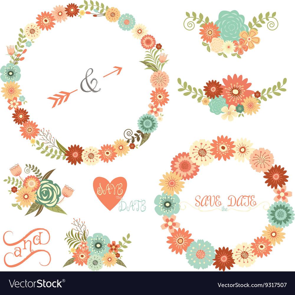 Wedding Floral Elements ArrowsFlowers Wreaths