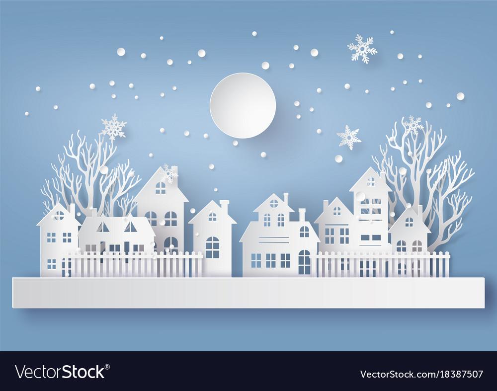 Winter snow urban countryside landscape city