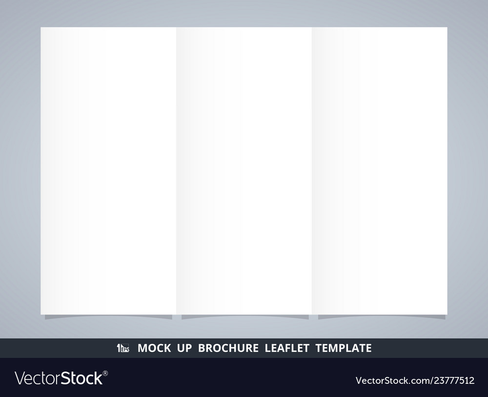 Abstract mock up white brochure leaflet template