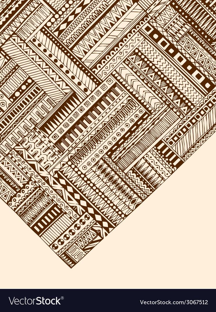 Abstract striped geometric tribal pattern black