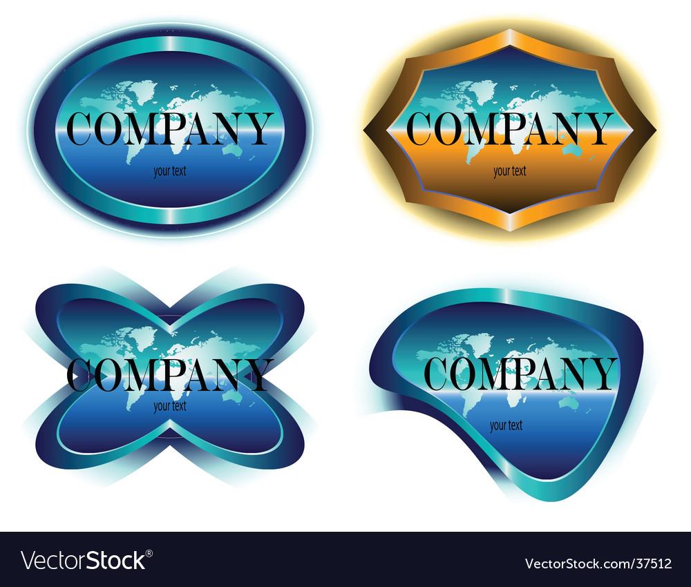 Company label design vector image