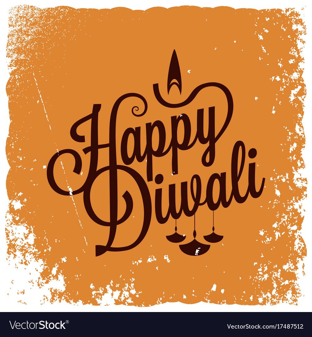Diwali vintage lettering logo background