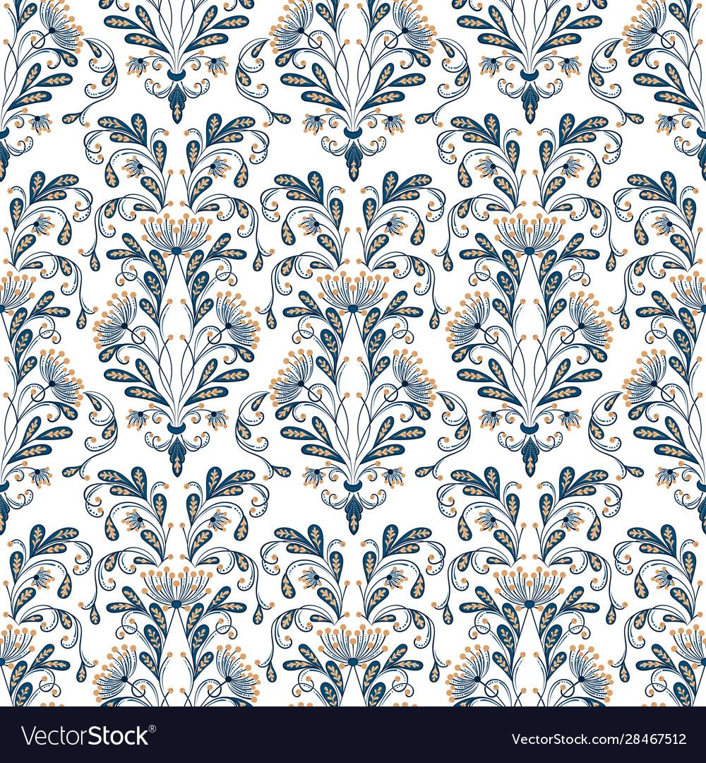 Flower seamless pattern background elegant
