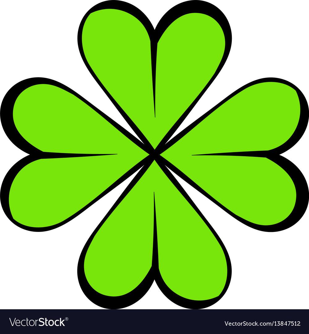 Four leaf clover icon icon cartoon vector image