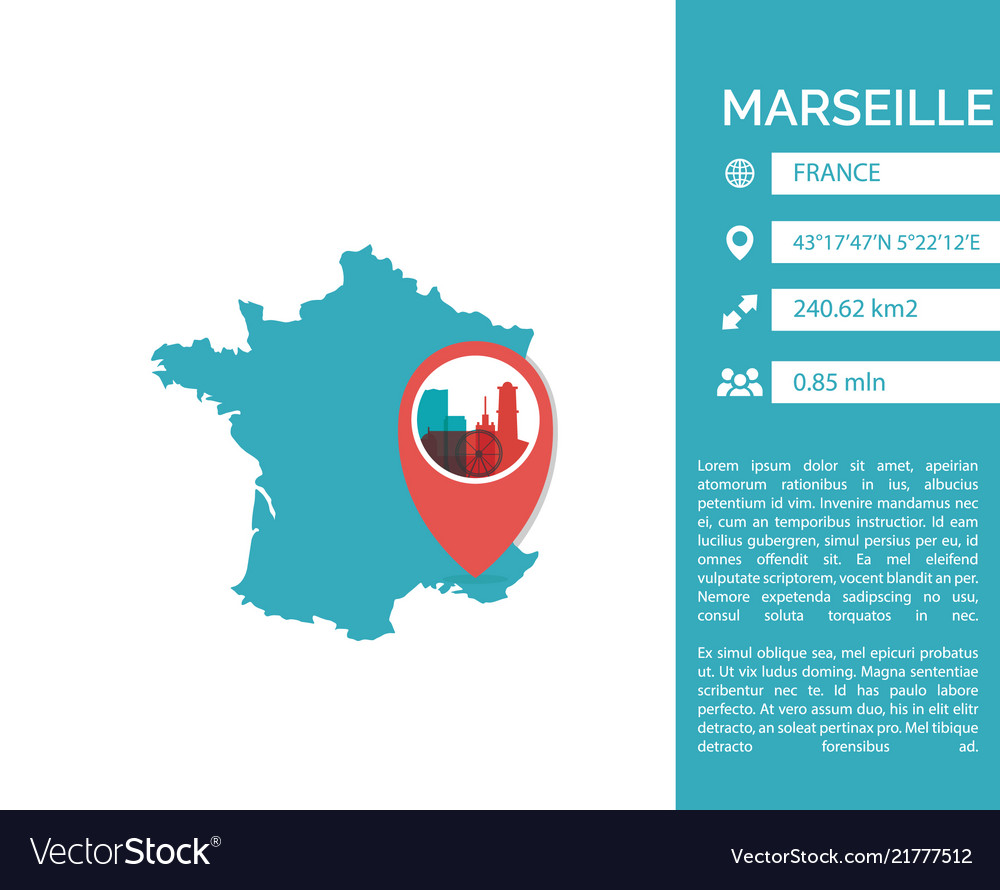 Marseille map infographic