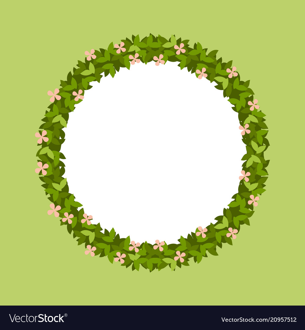 Round frame of leaves