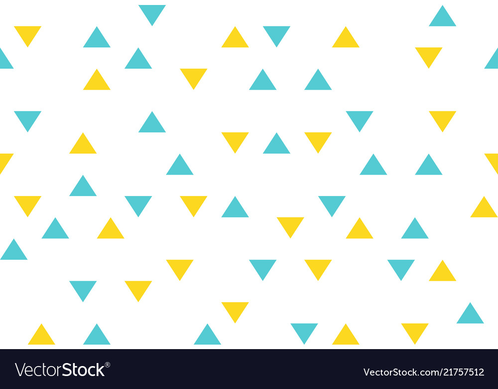 Yellow blue colorful abstract triangles retro