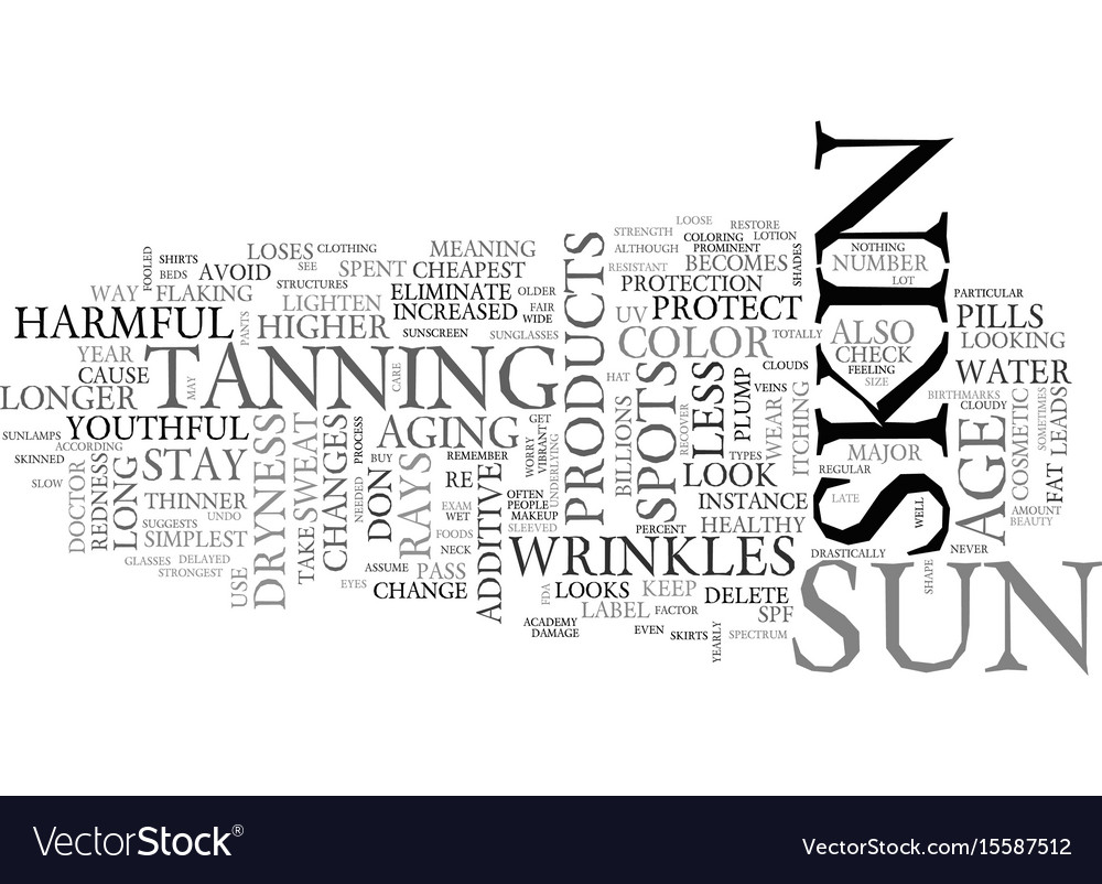 Youthful and vibrant skin text word cloud concept