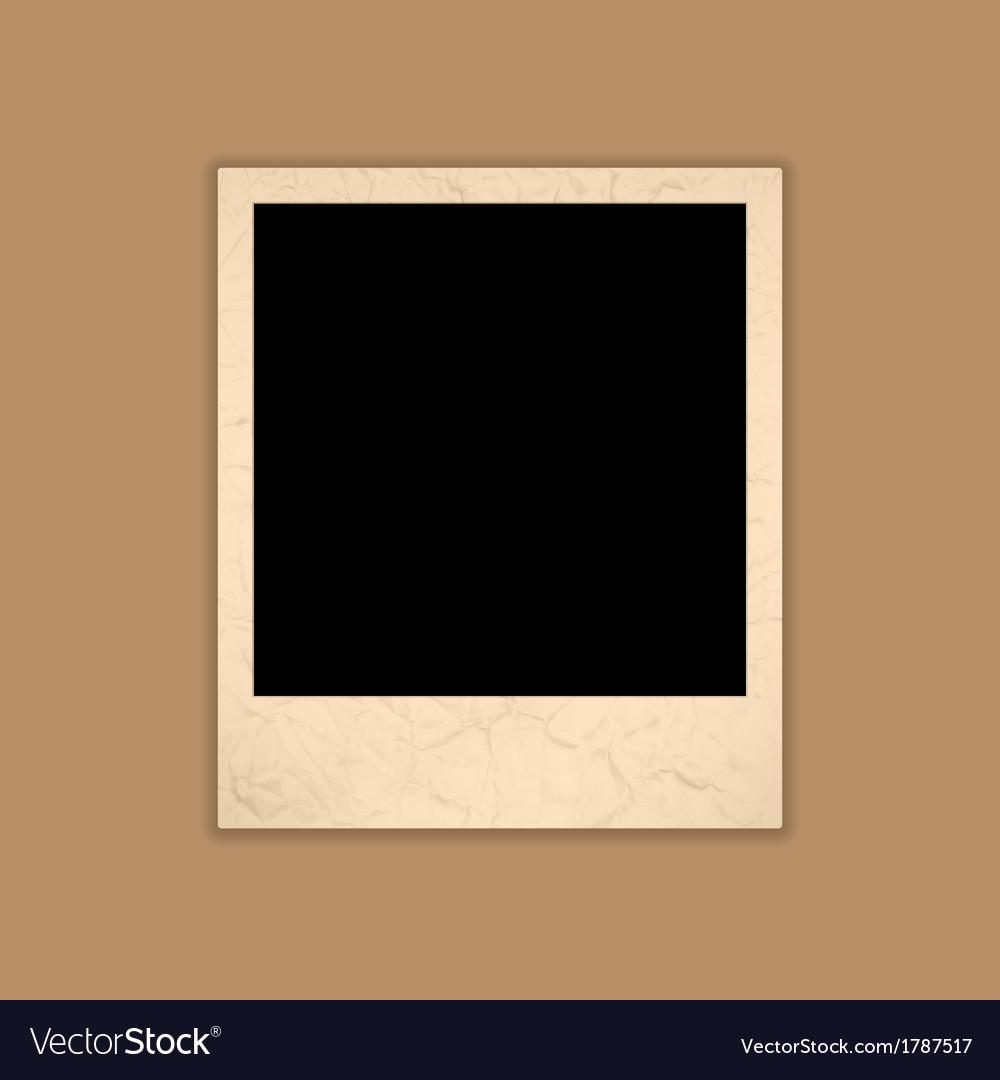 Blank Grunge Photo Frame Polaroid Style
