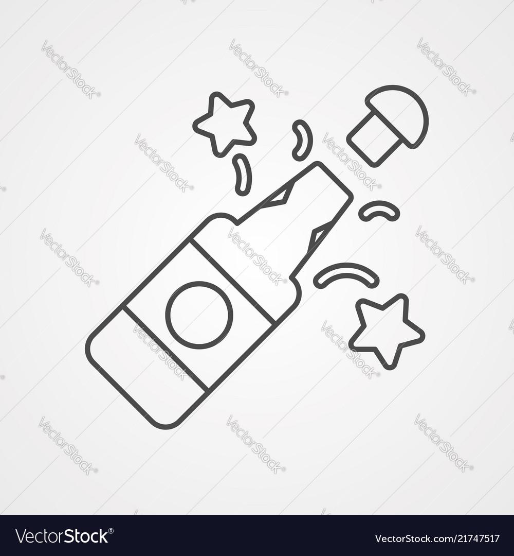 Champagne icon sign symbol