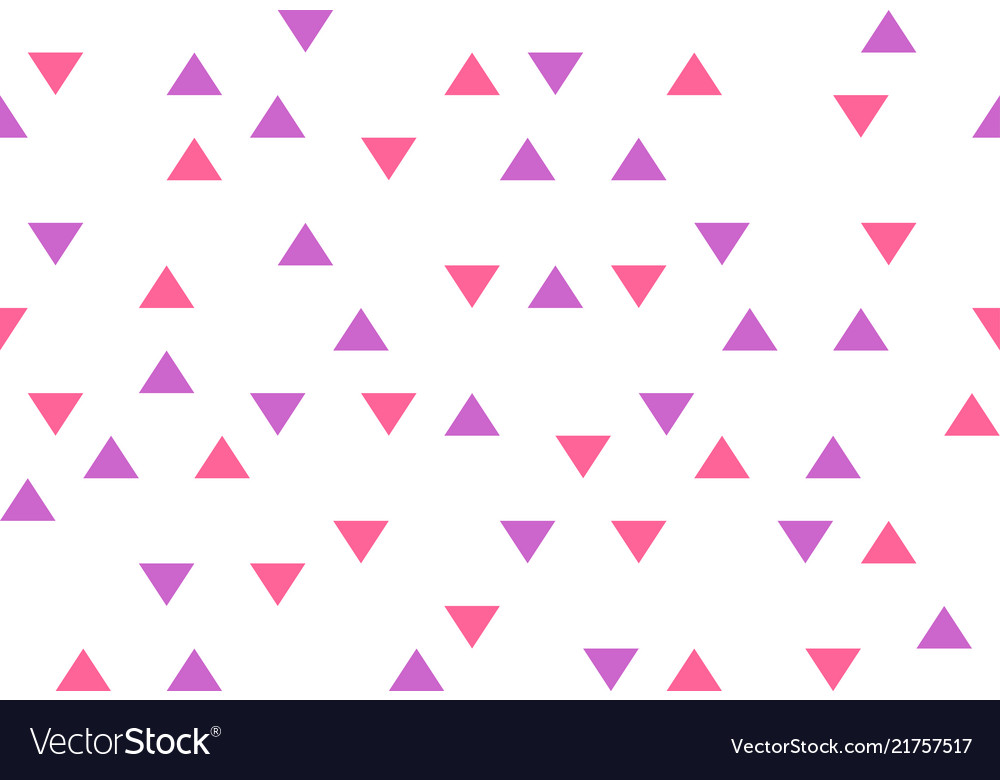 Pink purple colorful abstract triangles retro