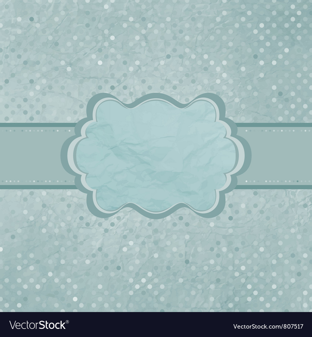 Vintage Polka Dots Card vector image