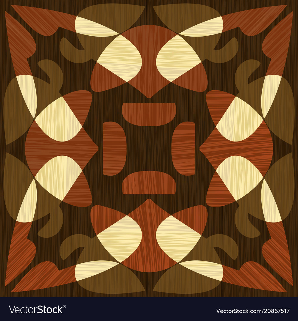 Wooden inlay light and dark wood patterns wooden vector image