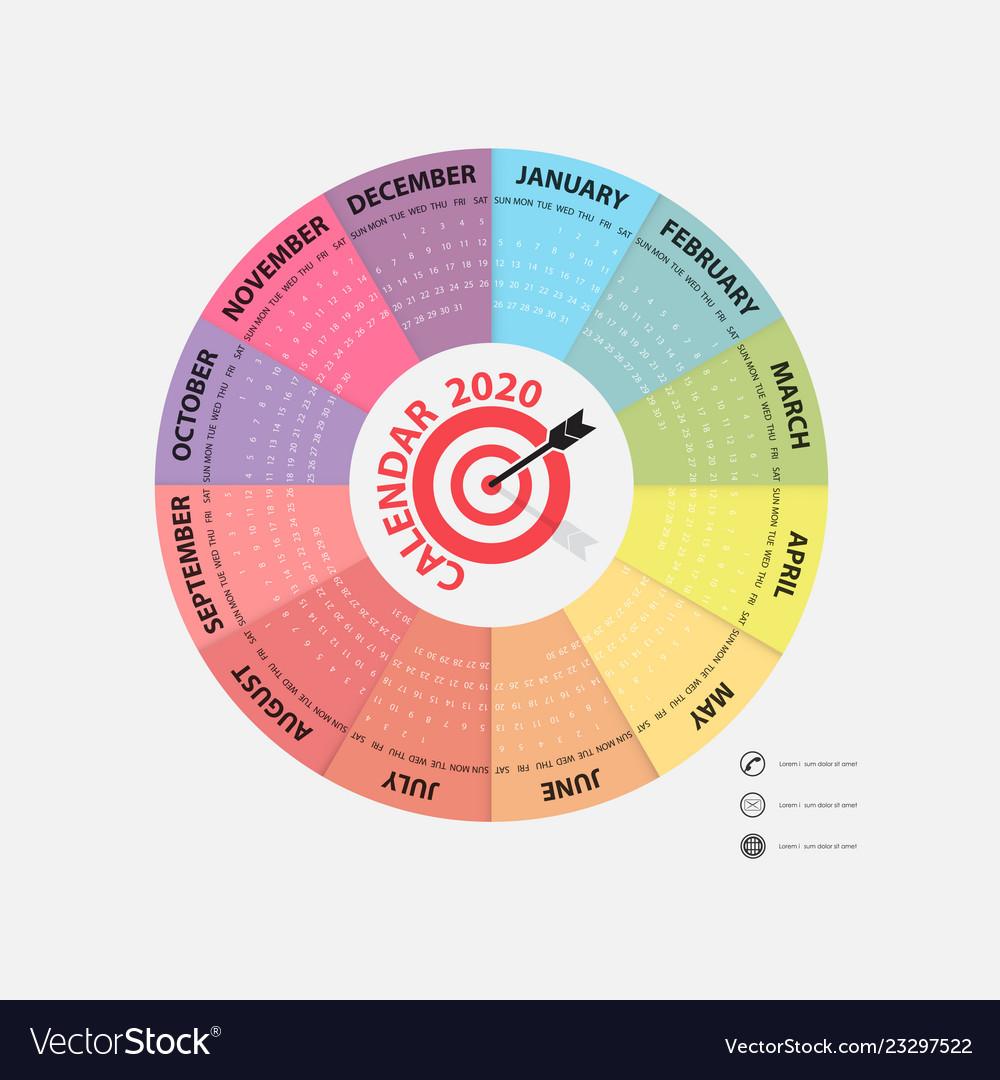 2020 calendar templatecalendar 2020 set of 12