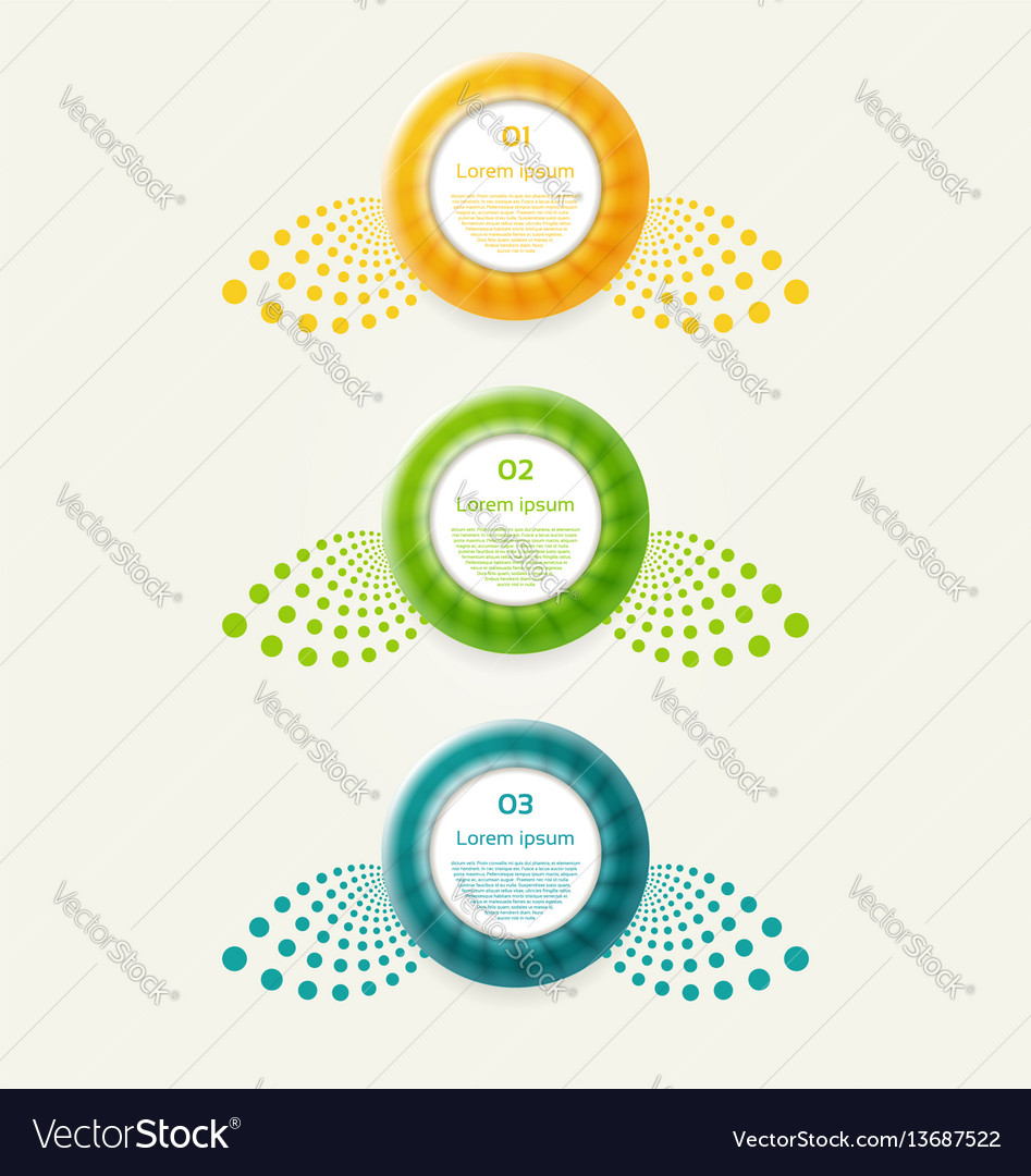 Abstract infographics options banner