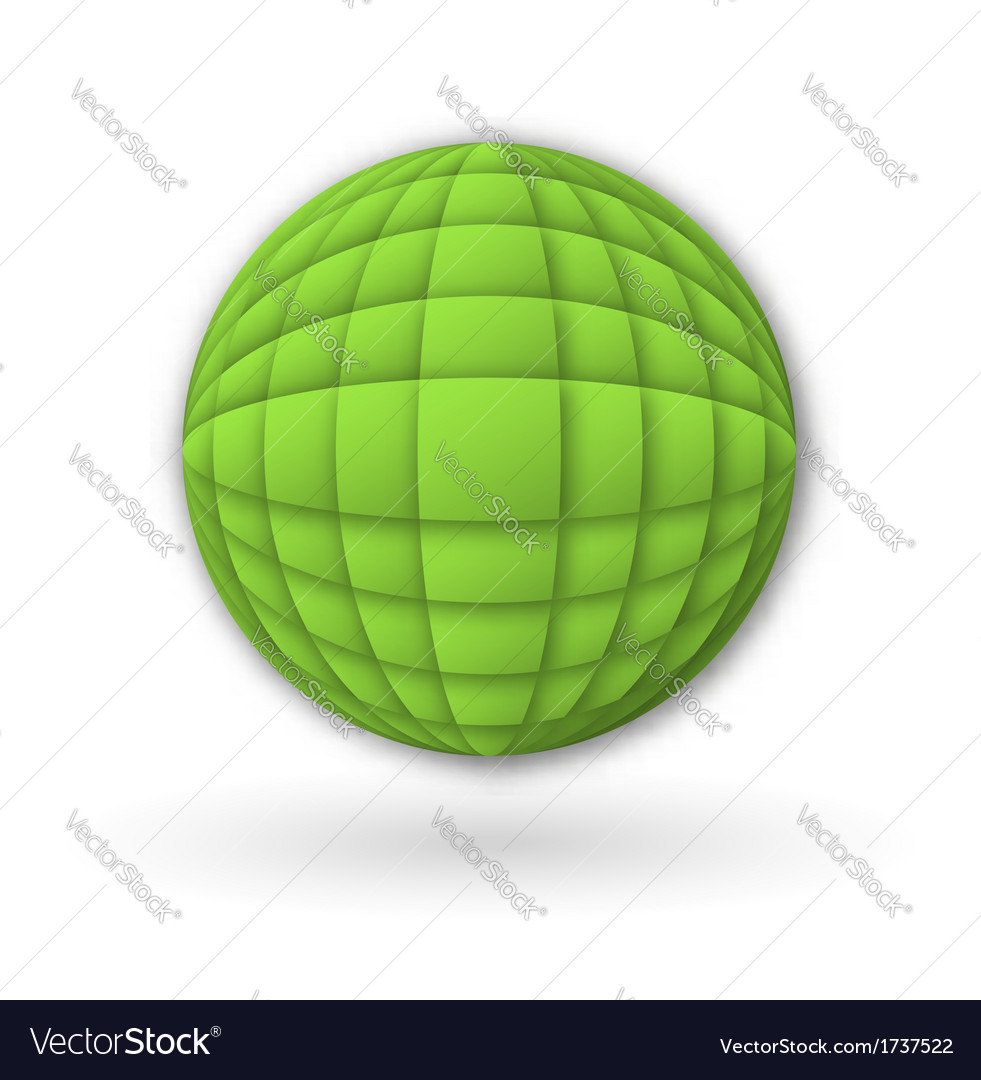 Abstract isolated design with shadows vector image