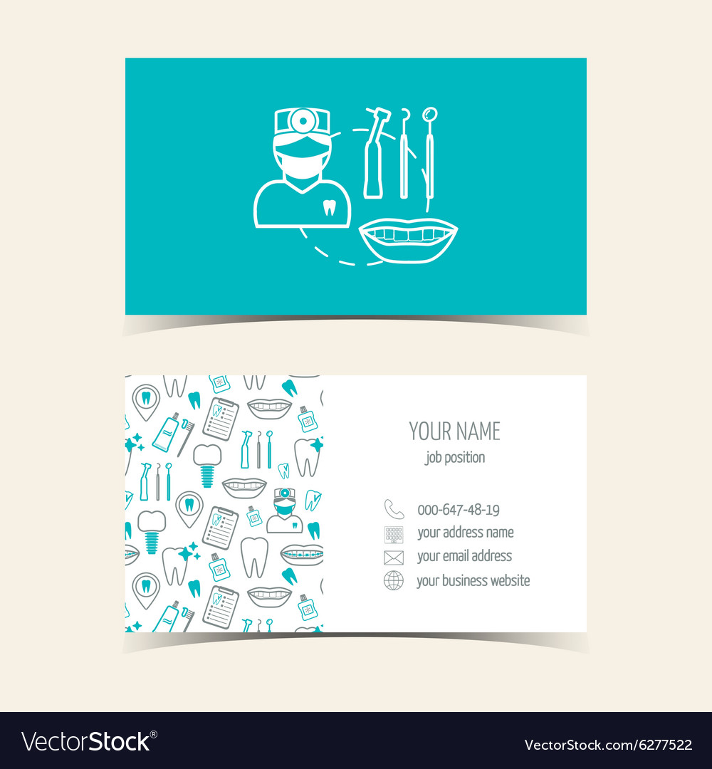 Business cards for dental clinic promotional vector image colourmoves