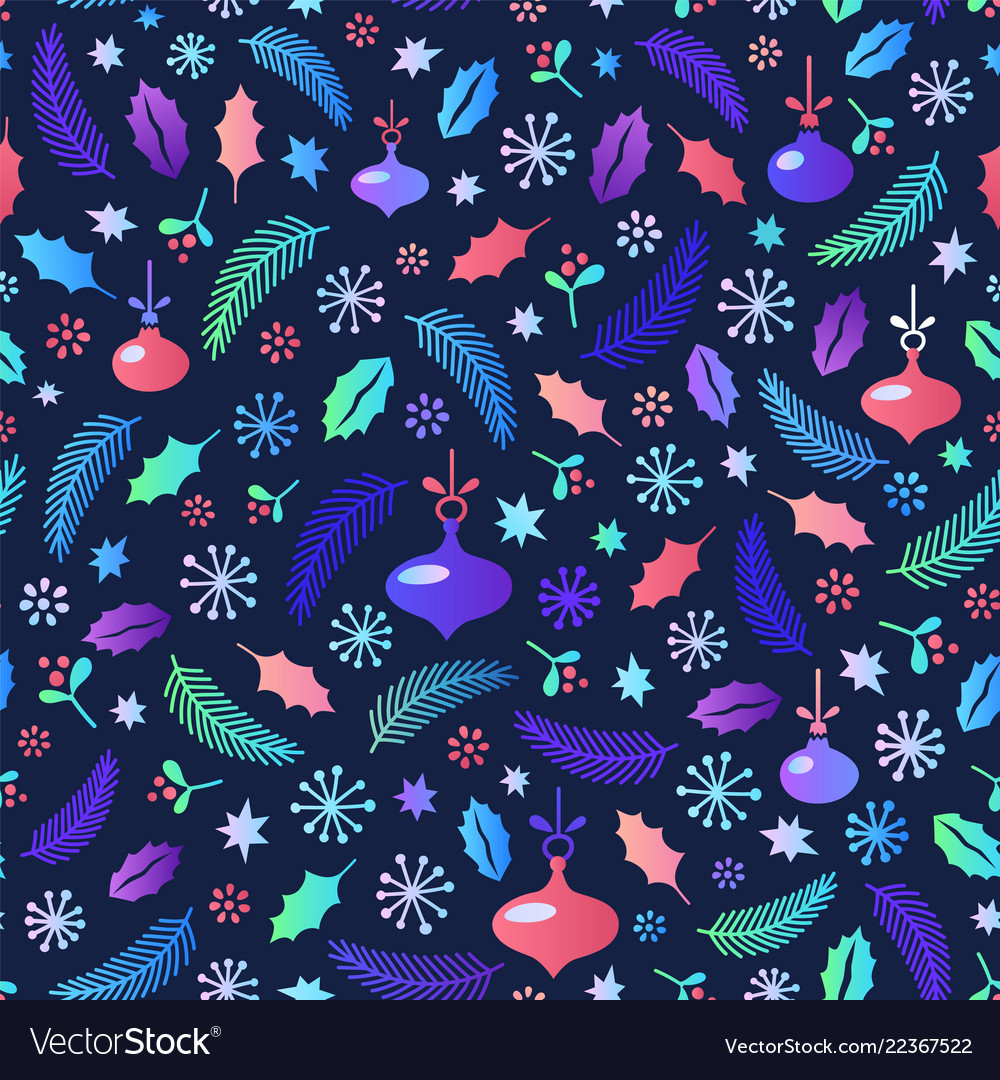 Christmas seamless pattern flat style cartoon