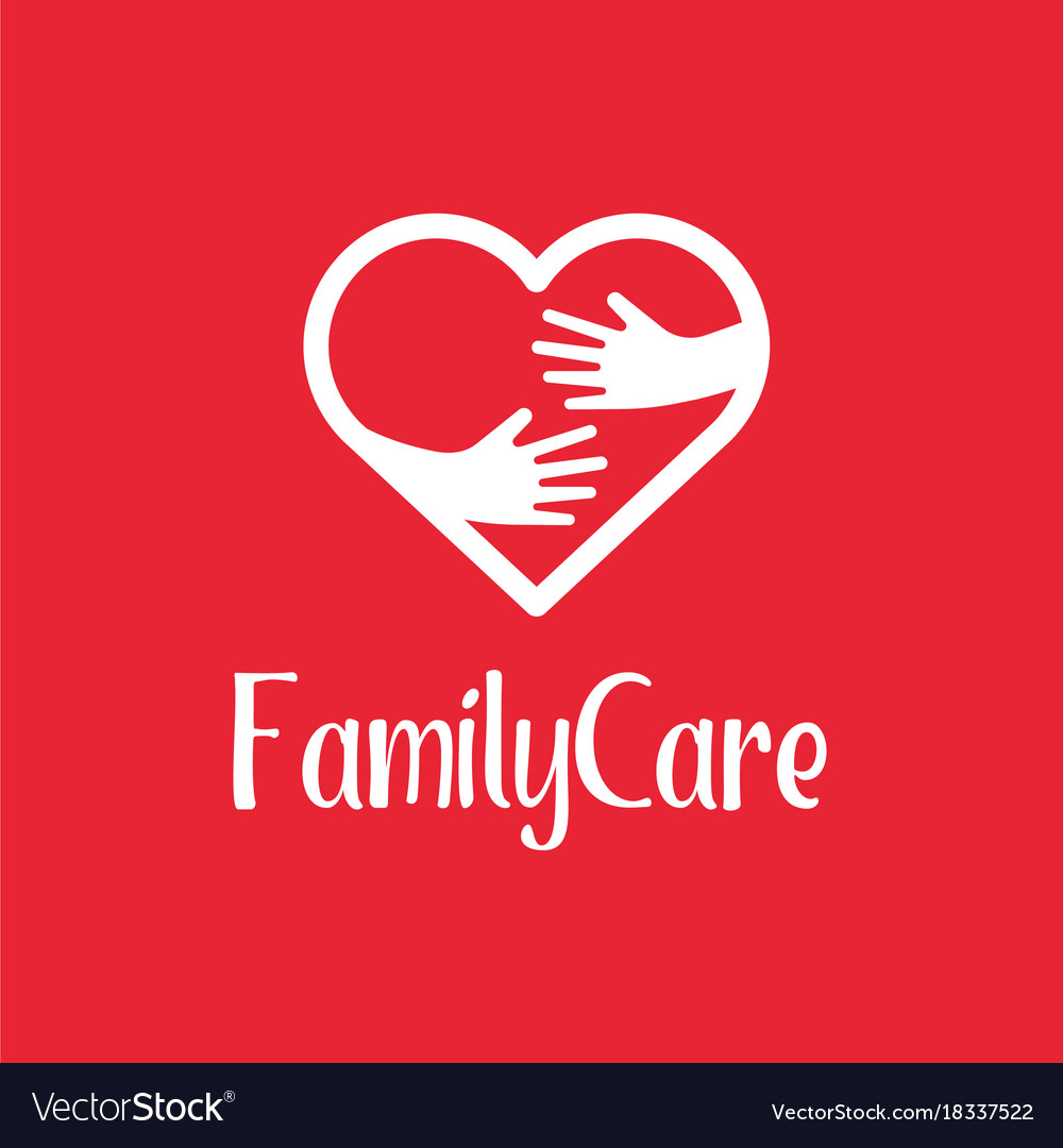 Family care logo design template icon of kindness