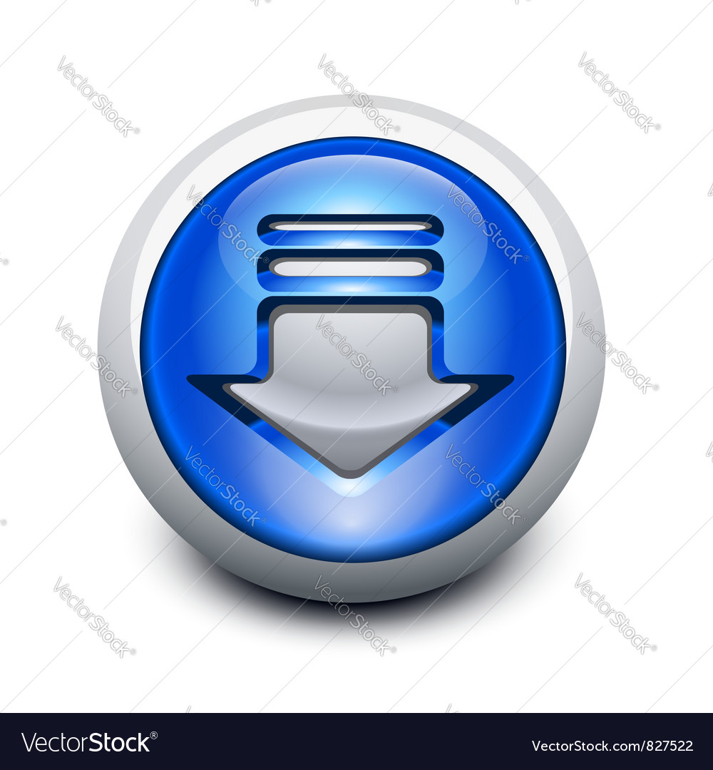 Glassy button vector image