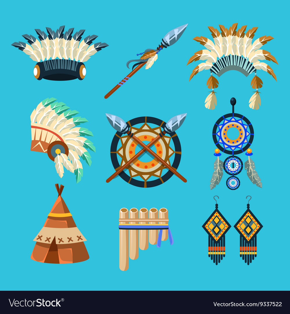Native American Indian Culture Set