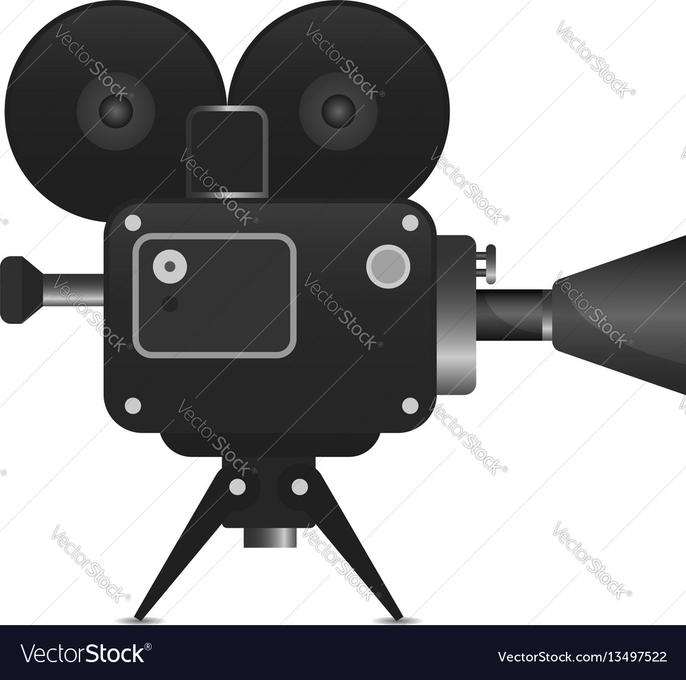 Retro movie projector with abstract light rays