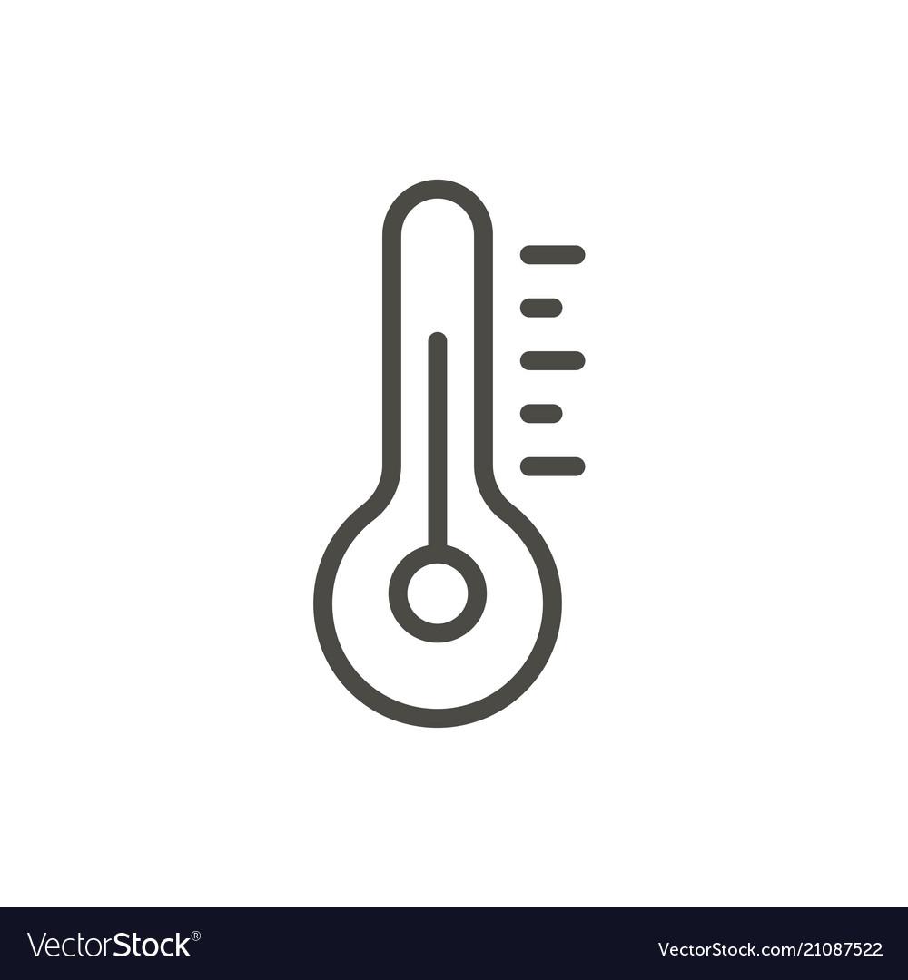 Temperature icon line thermometer symbol