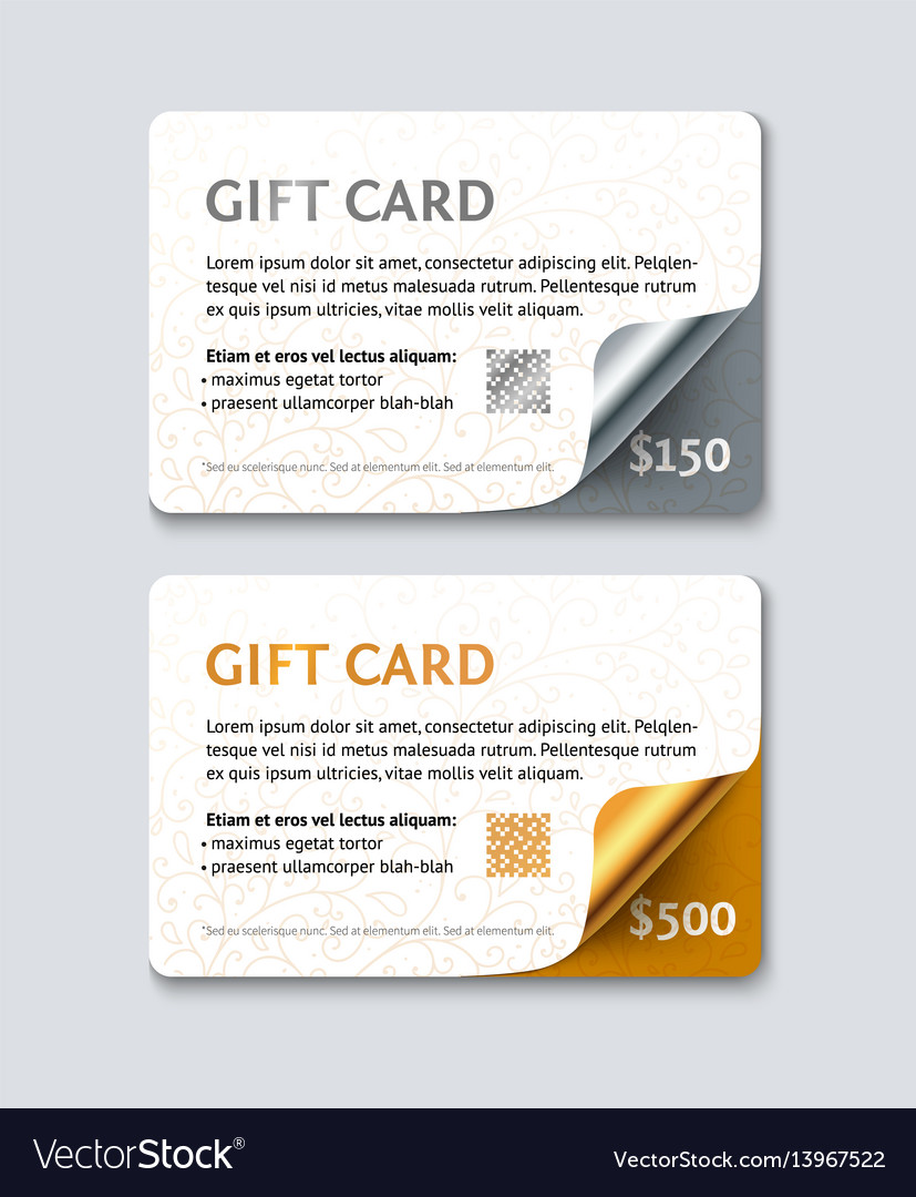Voucher gift card template vector image