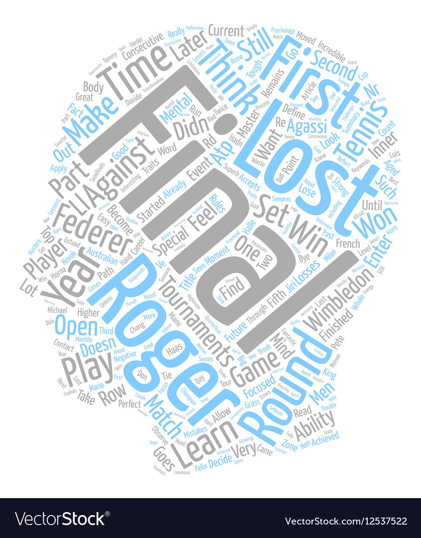 What Can You Learn From Roger Federer Text Vector Image