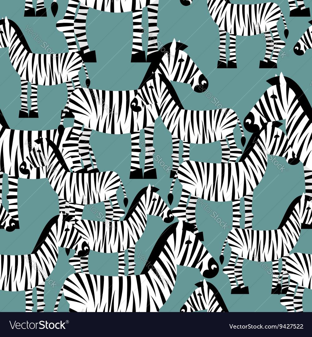 Zebra seamless pattern Savannah Animal ornament