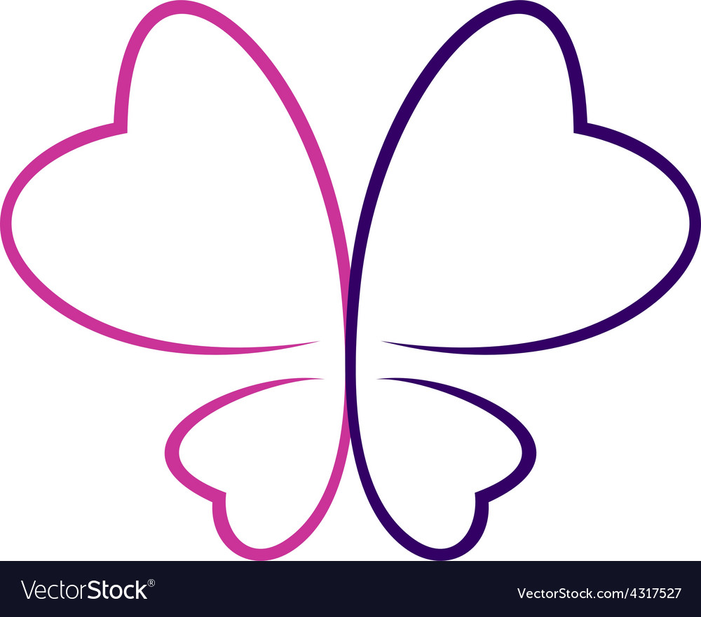 Butterfly outlines logo