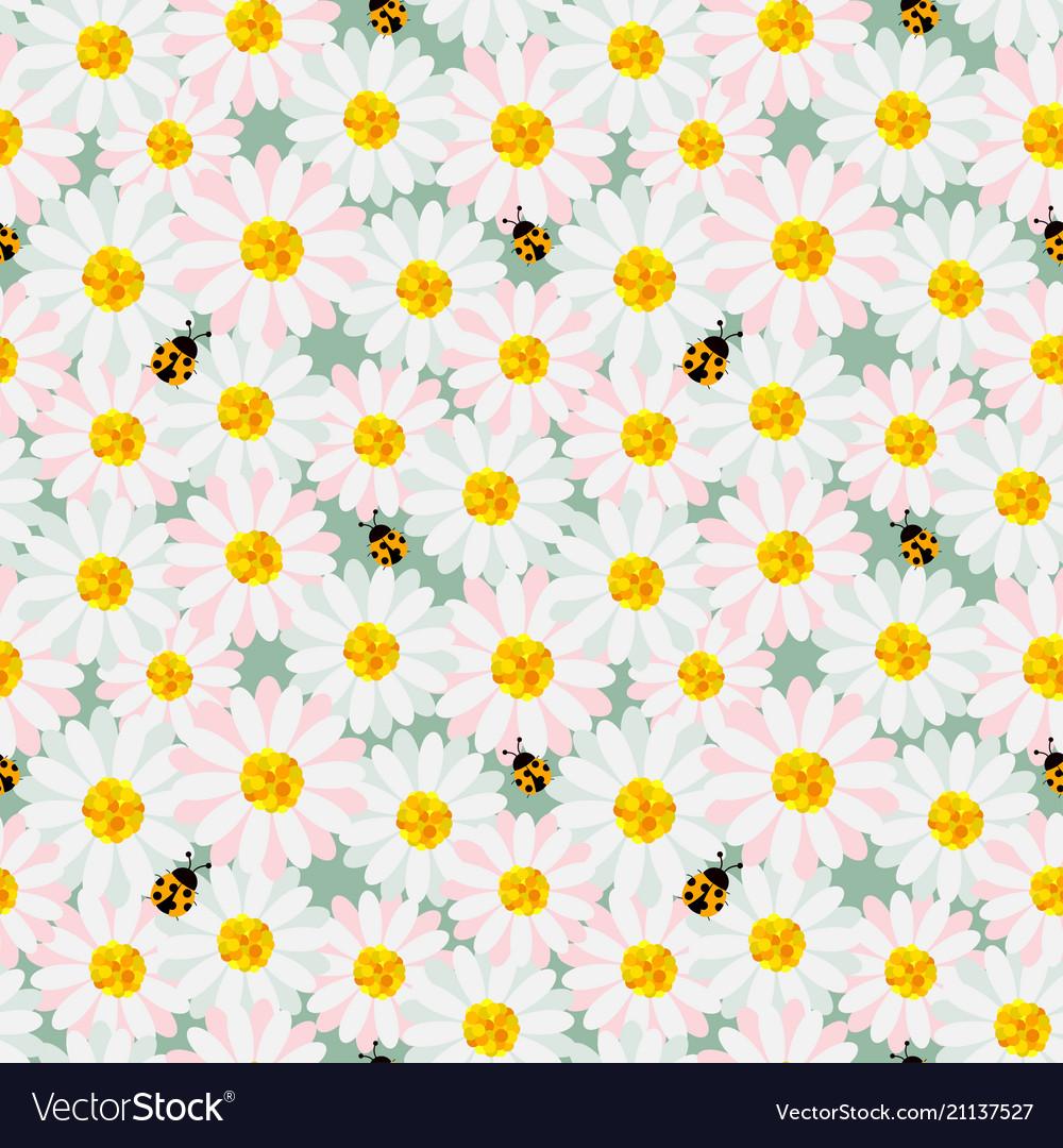 Cute pastel flowers seamless repeat pattern