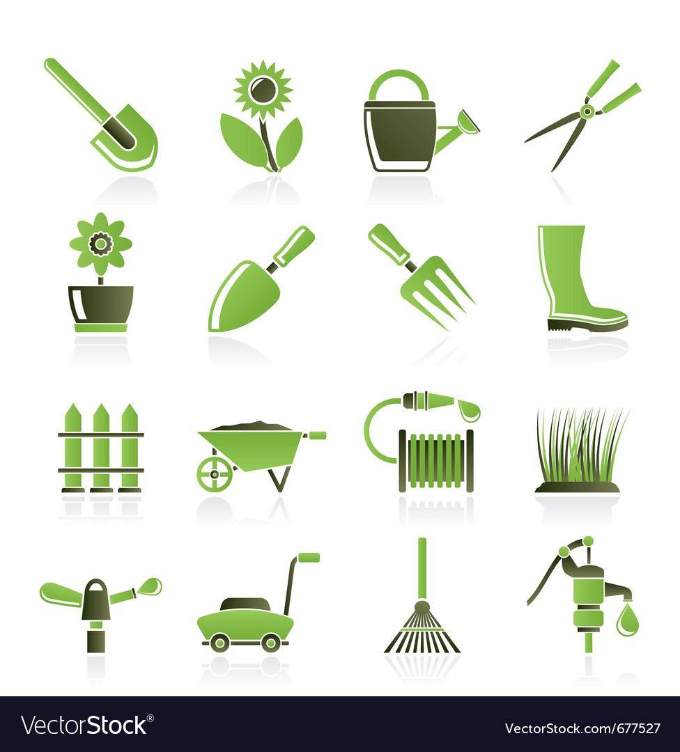 Gardening Icons Royalty Free Vector Image