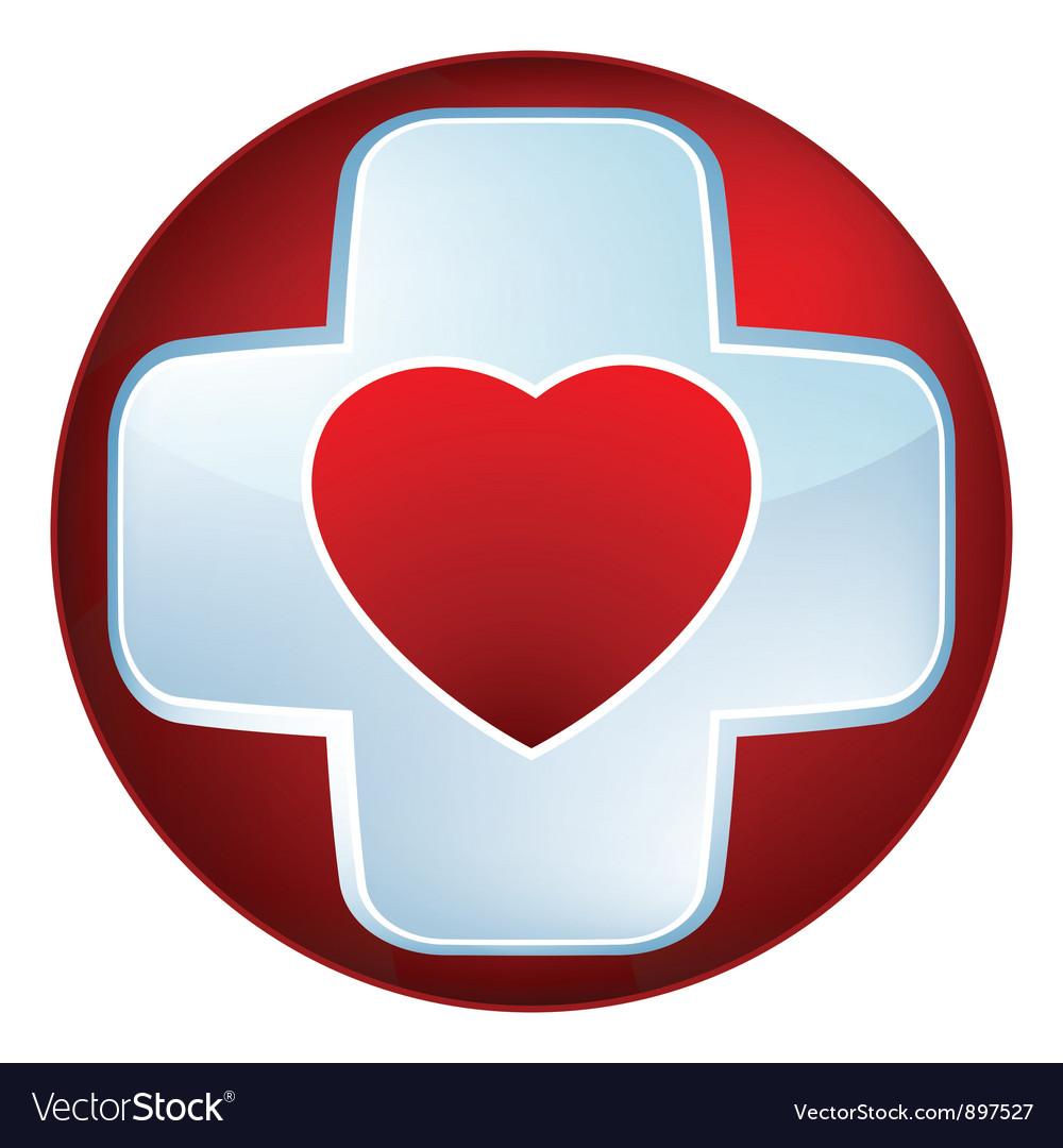 Heart medical cross